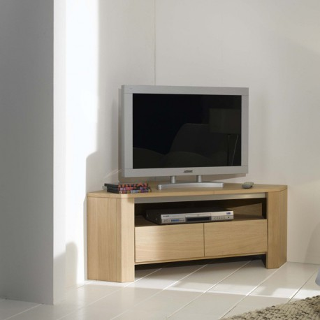 meuble tv d 39 angle en ch ne massif. Black Bedroom Furniture Sets. Home Design Ideas