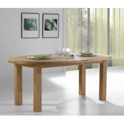 Table Ovale en chêne massif Whitney